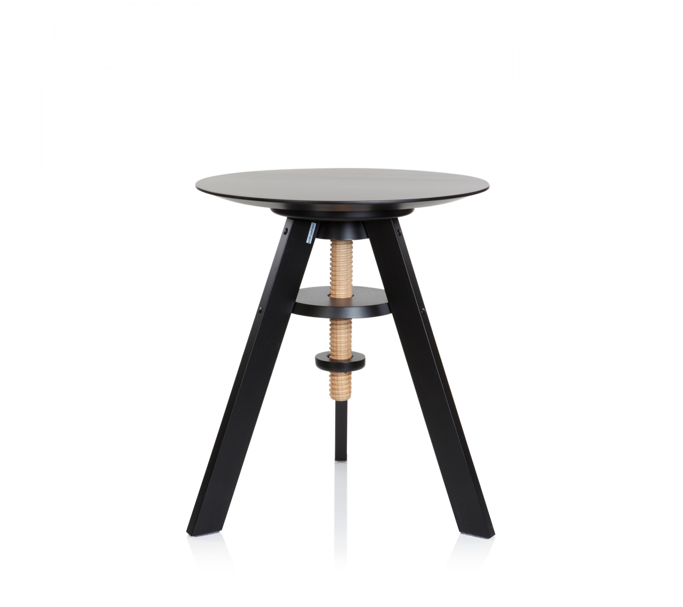 Beistelltisch Massivholz - Pianola Table black