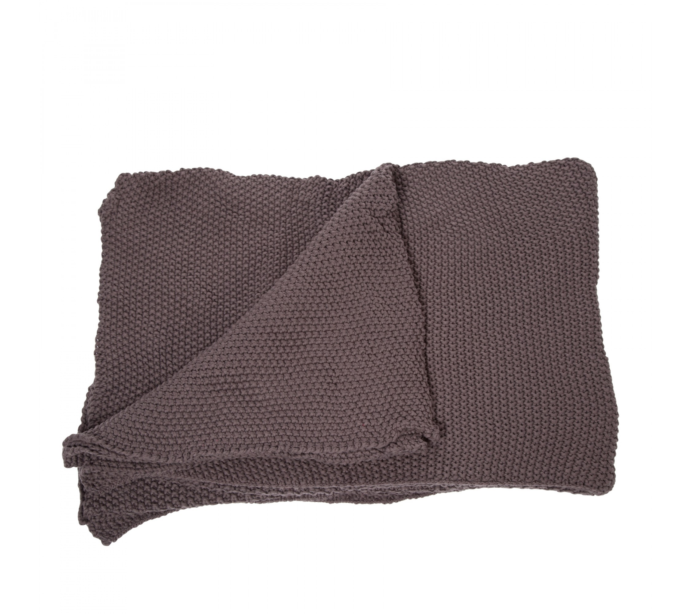 Strickdecke - Moss Throw anthracit