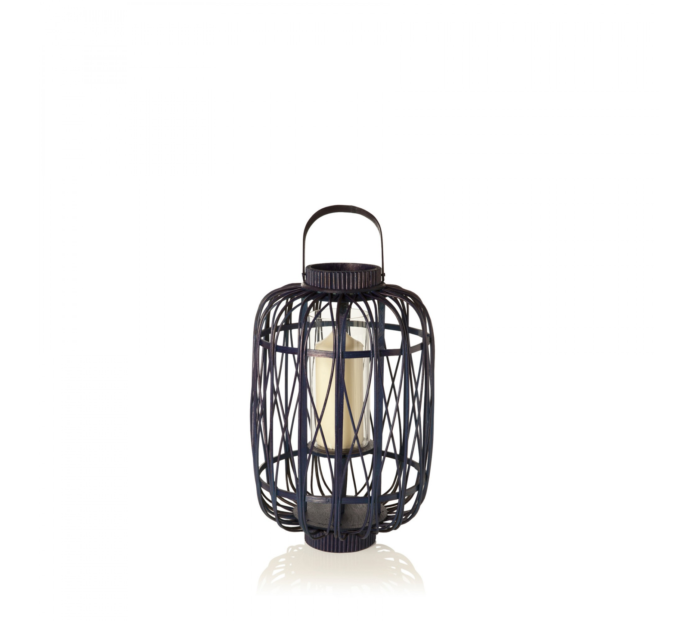 Laterne - Bamboo Lantern Small Navy