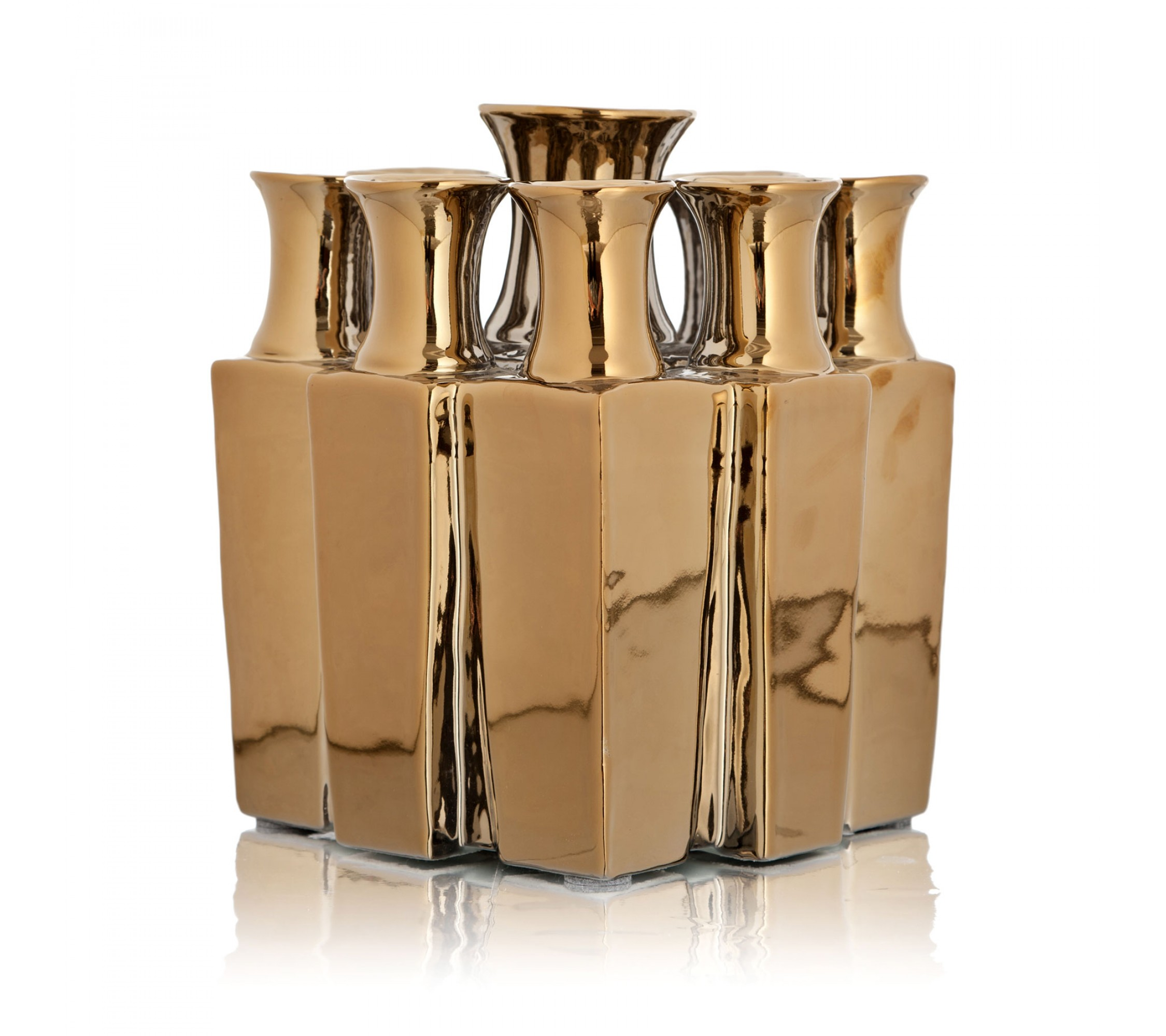 Vase Keramik - Collars Square Gold