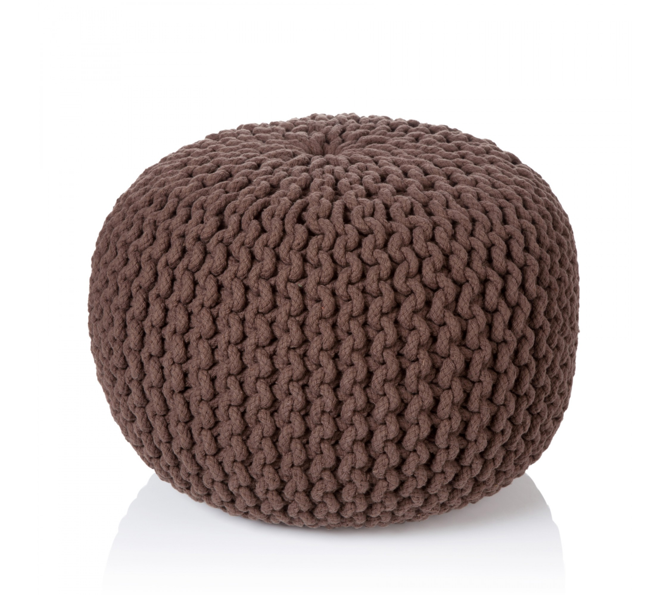 Strickpouf - Easy Sit brown