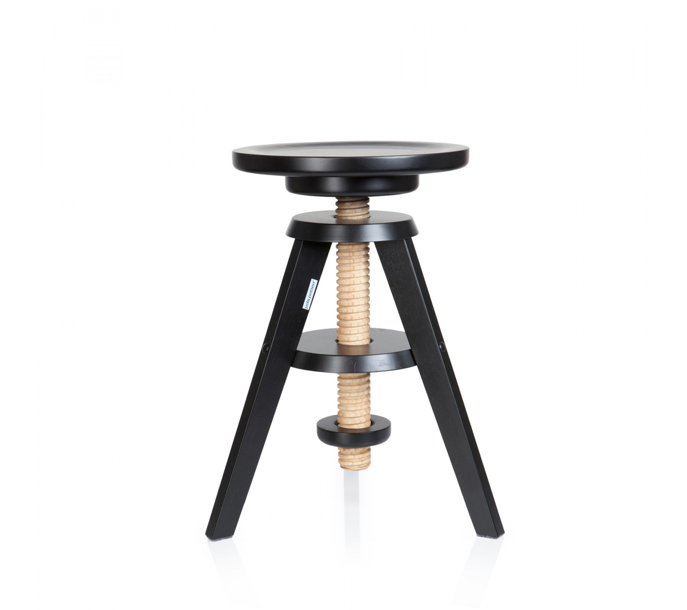 Holzhocker - Pianola Stool black