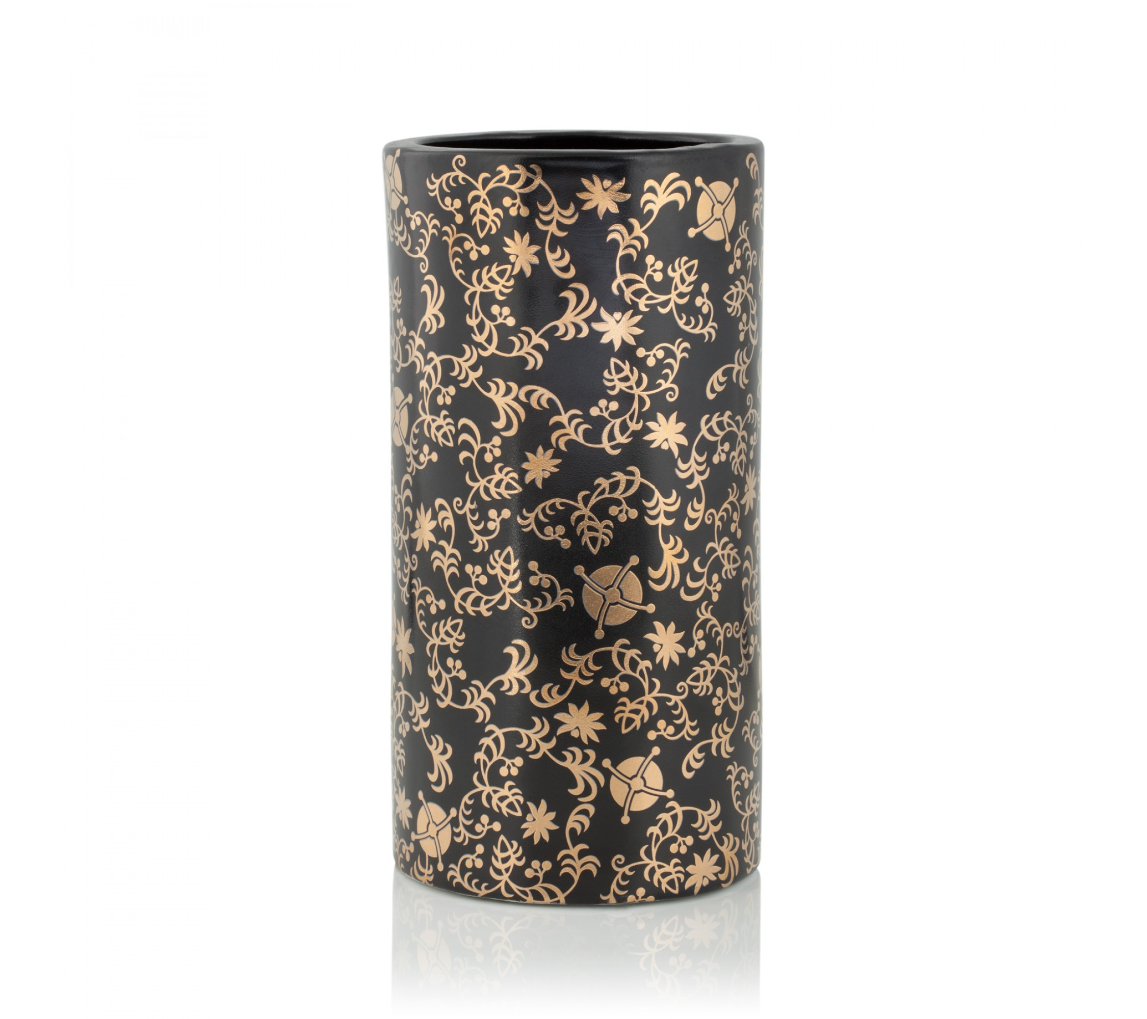 Vase Keramik - Golden Floral Medium