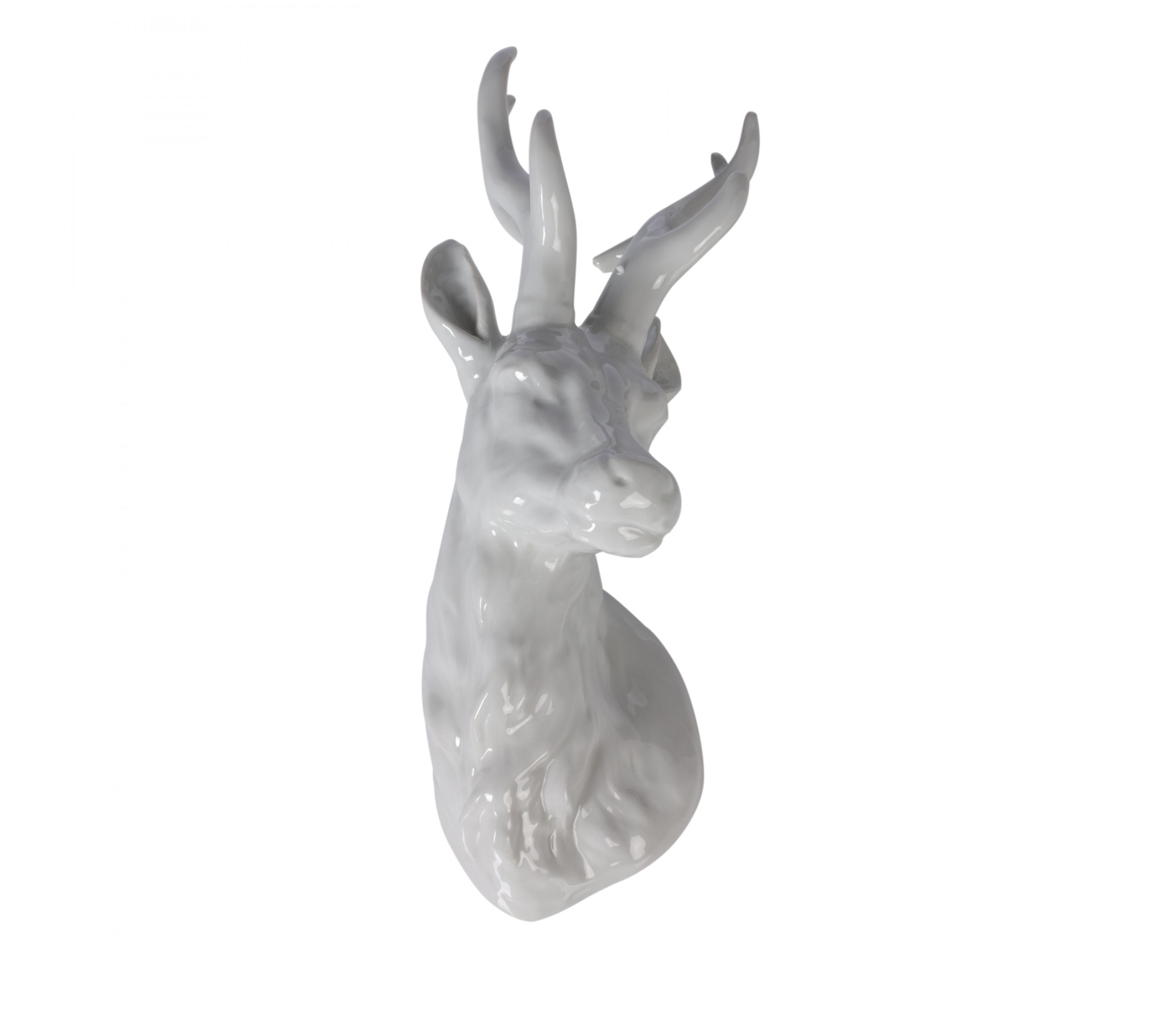 Deko-Hirschkopf - Stag Head Turn White