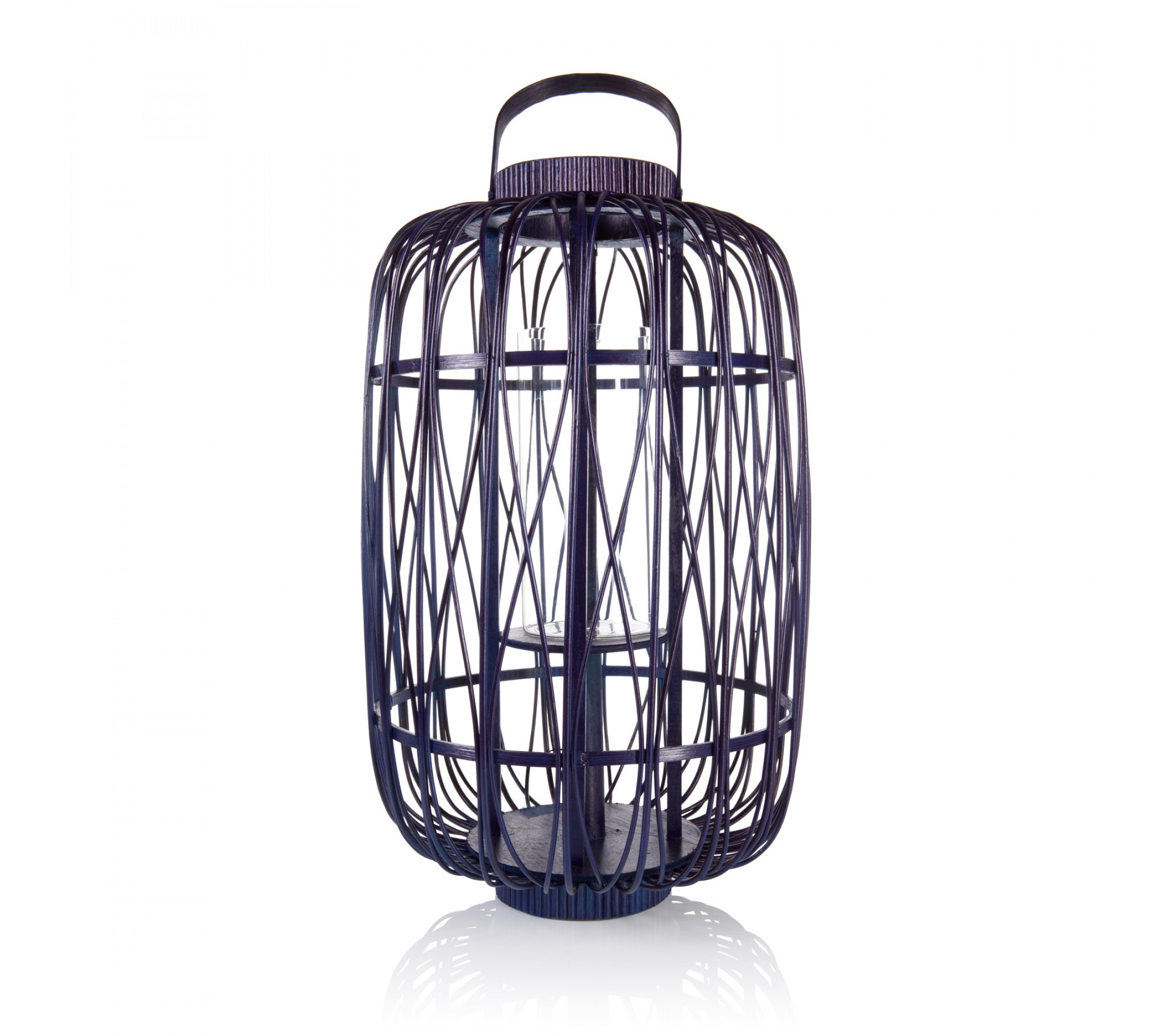 Laterne - Bamboo Lantern Large navy