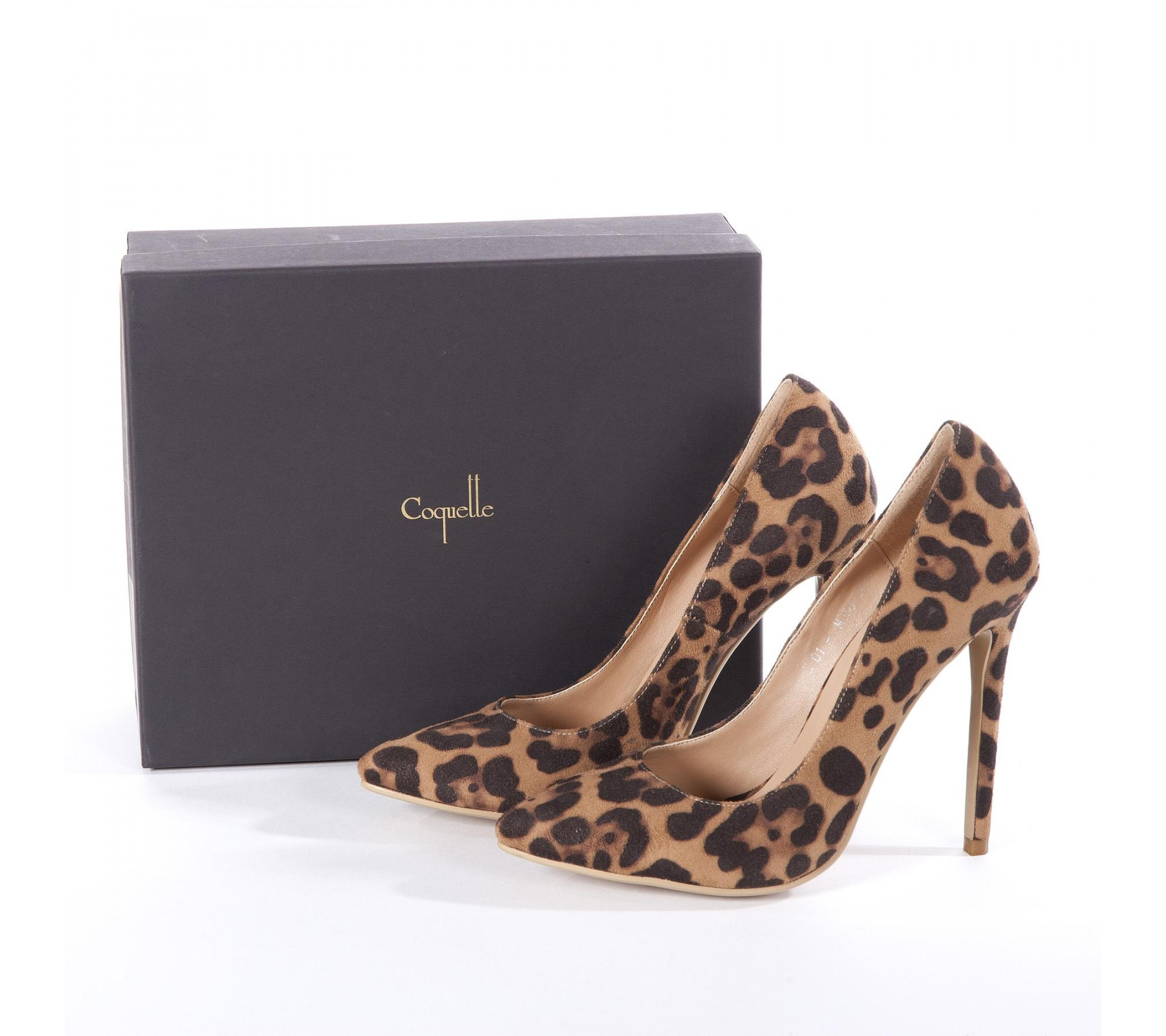 Vegane Pumps Leoparden